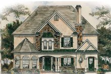 Architectural House Design - European Exterior - Front Elevation Plan #54-244