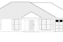 Architectural House Design - Colonial Exterior - Front Elevation Plan #17-3129