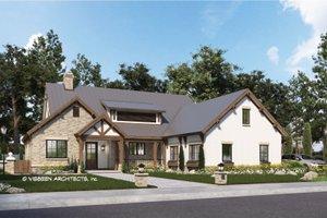 House Blueprint - Farmhouse Exterior - Front Elevation Plan #928-355