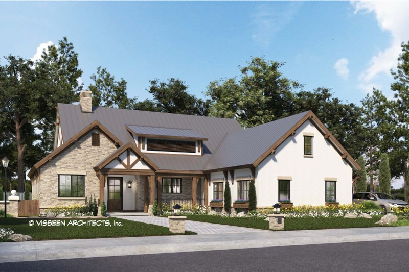 Home Plan - Farmhouse Exterior - Front Elevation Plan #928-355