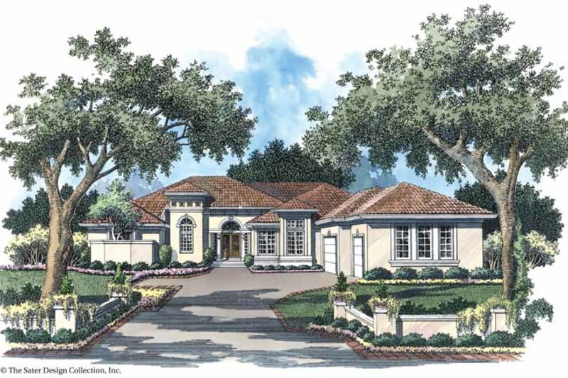 Mediterranean Exterior - Front Elevation Plan #930-102