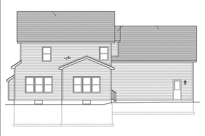 Country Exterior - Rear Elevation Plan #1010-124 - Houseplans.com