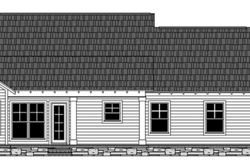 Craftsman Exterior - Rear Elevation Plan #21-432 - Houseplans.com