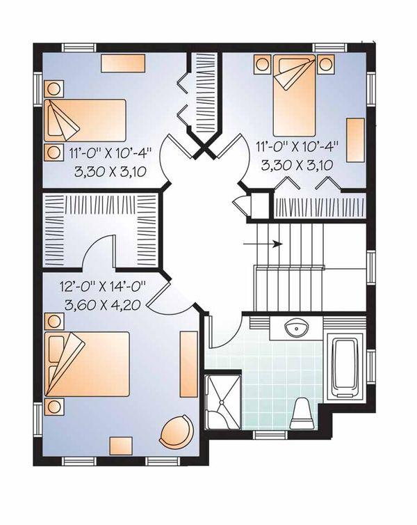 Country Floor Plan - Upper Floor Plan Plan #23-2549