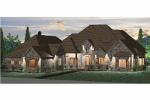 Country Exterior - Front Elevation Plan #937-7