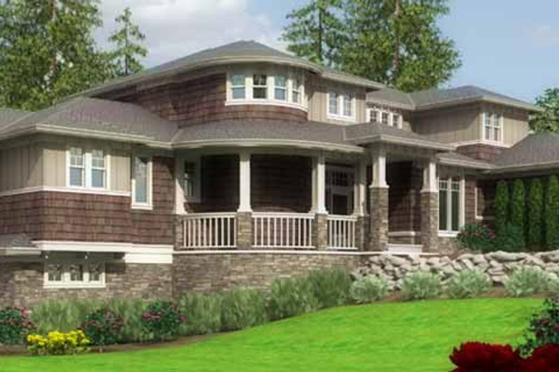 Traditional Exterior - Front Elevation Plan #966-78 - Houseplans.com