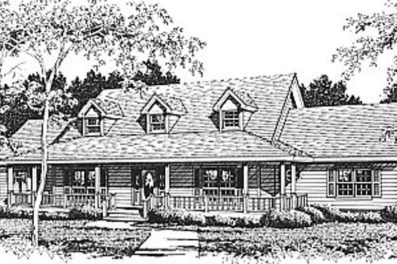 Country Exterior - Front Elevation Plan #14-202