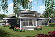 Modern Style House Plan - 4 Beds 3.5 Baths 3094 Sq/Ft Plan #70-1430 Exterior - Rear Elevation