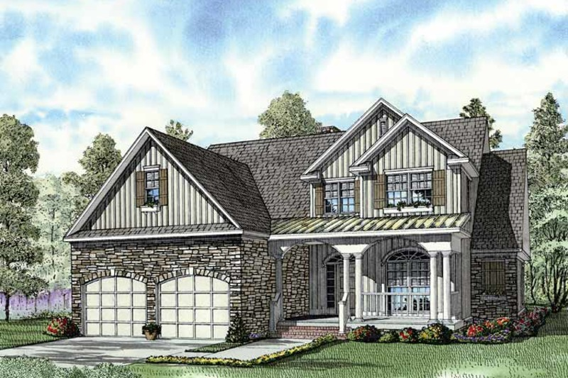 Traditional Exterior - Front Elevation Plan #17-2779 - Houseplans.com