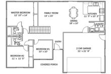 Ranch Floor Plan - Main Floor Plan Plan #1060-36