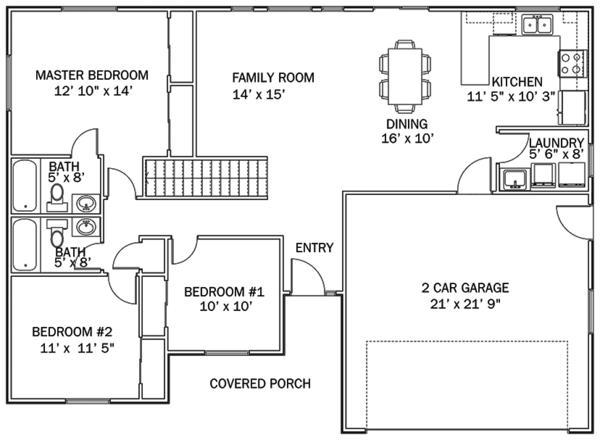 Dream House Plan - Ranch Floor Plan - Main Floor Plan #1060-36