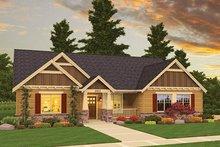 Craftsman Exterior - Front Elevation Plan #943-45