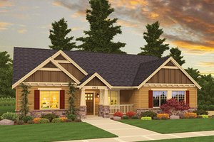 Craftsman Exterior - Front Elevation Plan #943-45