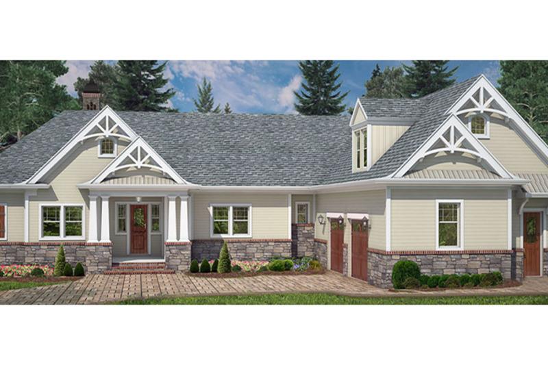 Craftsman Exterior - Front Elevation Plan #119-425 - Houseplans.com