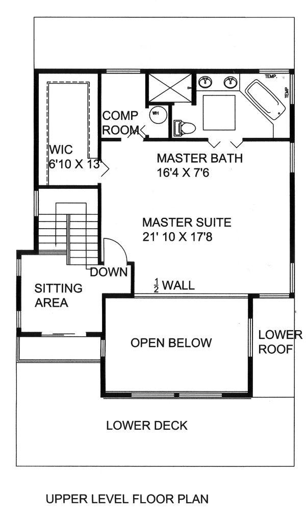House Plan Design - Mediterranean Floor Plan - Upper Floor Plan #117-884