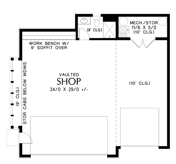 Contemporary Floor Plan - Main Floor Plan #48-1006