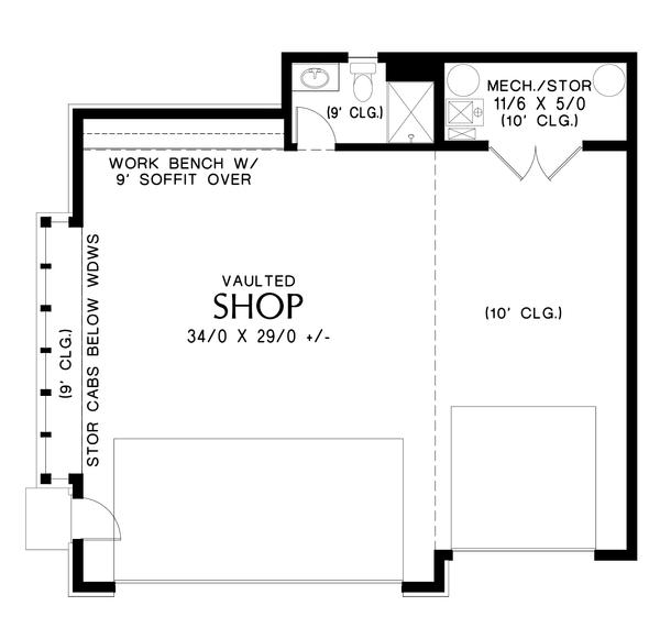 House Plan Design - Contemporary Floor Plan - Main Floor Plan #48-1006