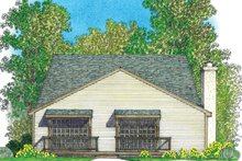 Home Plan - European Exterior - Rear Elevation Plan #1016-108