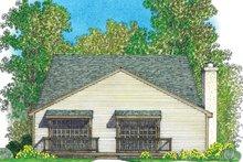 Architectural House Design - European Exterior - Rear Elevation Plan #1016-108