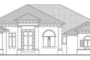 Mediterranean Style House Plan - 4 Beds 4.5 Baths 3831 Sq/Ft Plan #930-443 Exterior - Front Elevation