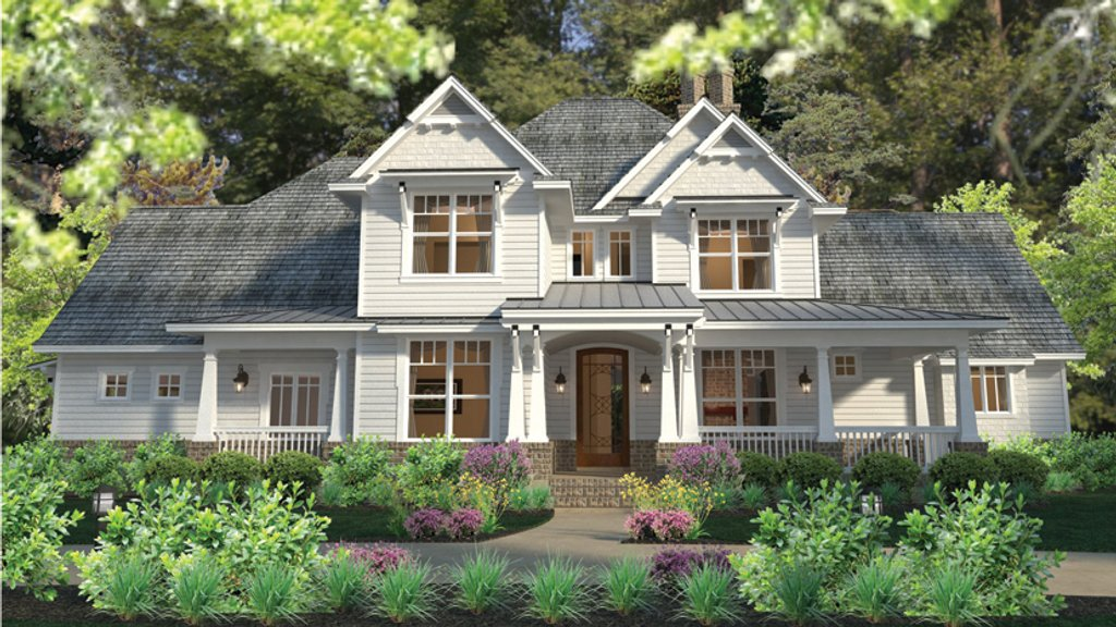 Craftsman style house plan 3 beds 2 5 baths 2575 sq ft for Craftsman vs mission style