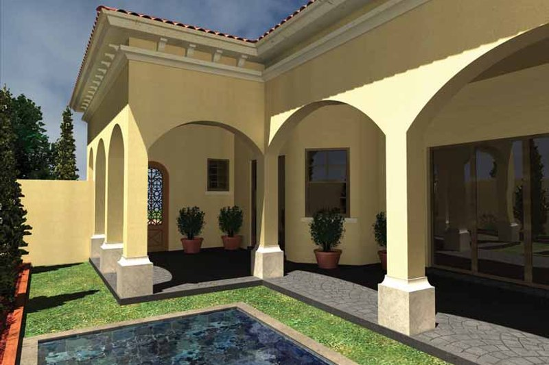 Mediterranean Exterior - Rear Elevation Plan #930-430 - Houseplans.com