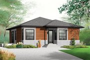 Contemporary Style House Plan - 2 Beds 1 Baths 962 Sq/Ft Plan #23-2524 Exterior - Front Elevation