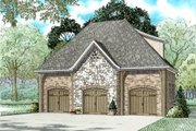 European Style House Plan - 0 Beds 0 Baths 1026 Sq/Ft Plan #17-2580 Exterior - Front Elevation