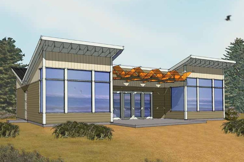 Architectural House Design - Exterior - Front Elevation Plan #569-3