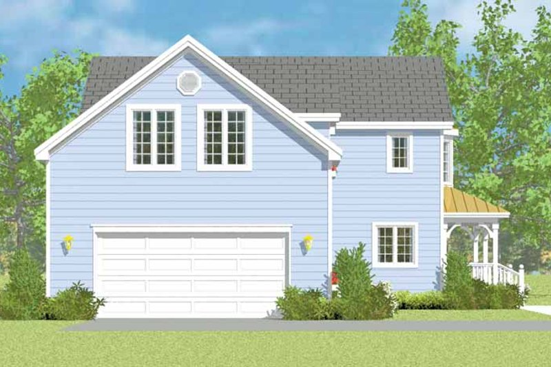 Country Exterior - Other Elevation Plan #72-1114 - Houseplans.com