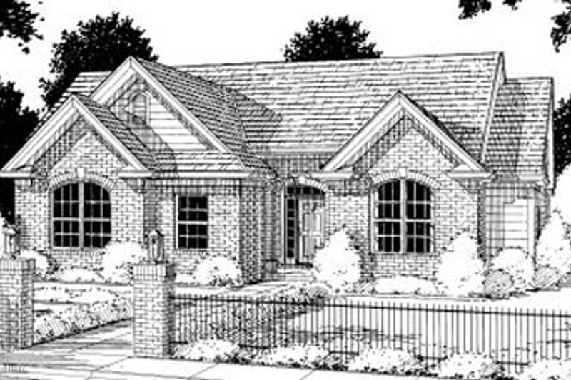 Traditional Exterior - Front Elevation Plan #20-197 - Houseplans.com