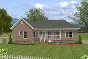Craftsman Style House Plan - 4 Beds 3 Baths 1800 Sq/Ft Plan #56-557 Exterior - Rear Elevation