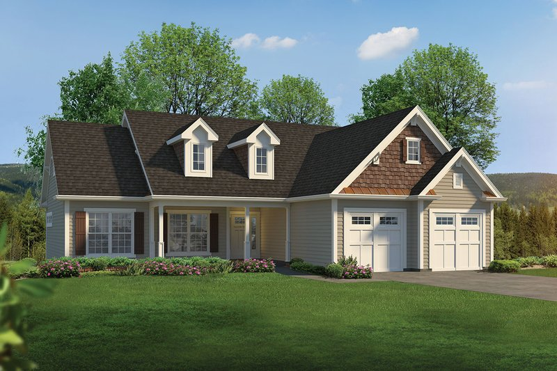 Ranch Exterior - Front Elevation Plan #57-667