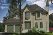 European Style House Plan - 4 Beds 2.5 Baths 2437 Sq/Ft Plan #138-130 Exterior - Front Elevation