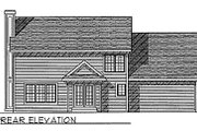 Traditional Style House Plan - 4 Beds 2.5 Baths 2120 Sq/Ft Plan #70-308 Exterior - Rear Elevation