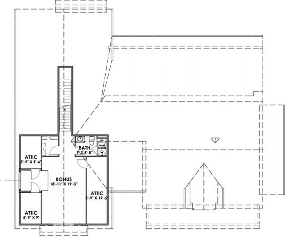 Farmhouse Floor Plan - Upper Floor Plan Plan #1069-17