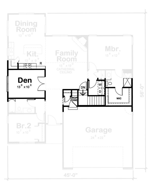 Home Plan - Traditional Floor Plan - Other Floor Plan #20-1792