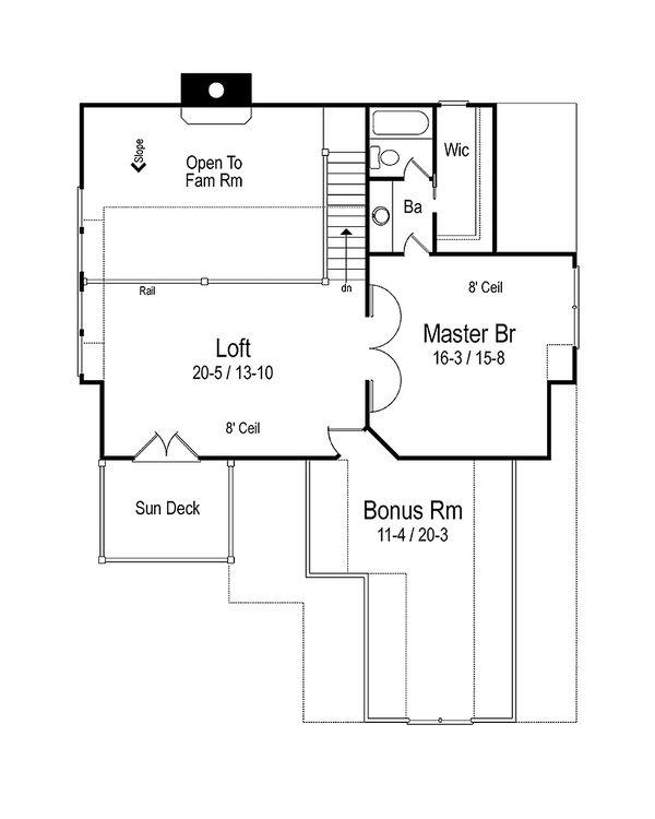 Cottage Floor Plan - Upper Floor Plan #71-108