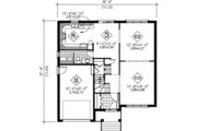 Traditional Style House Plan - 3 Beds 1.5 Baths 2240 Sq/Ft Plan #25-4254 Floor Plan - Main Floor Plan