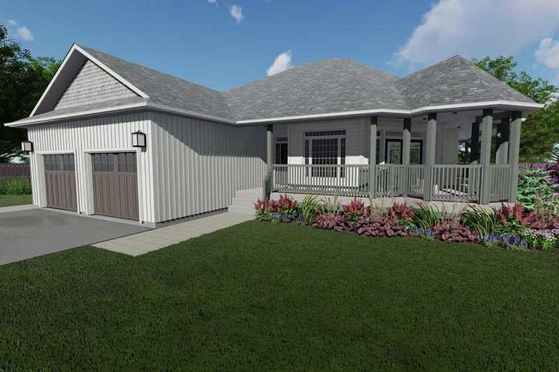 Architectural House Design - Craftsman Exterior - Front Elevation Plan #126-224