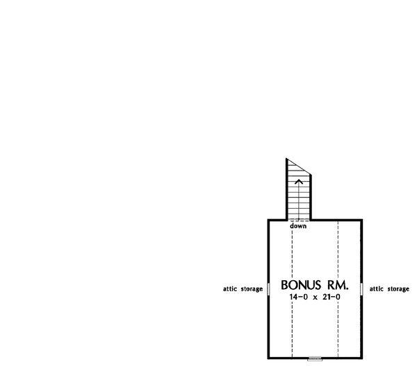 Country Floor Plan - Upper Floor Plan #929-11