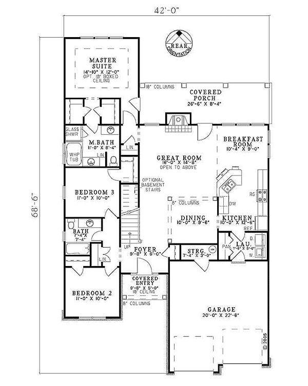 European Floor Plan - Main Floor Plan Plan #17-2267