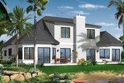 Mediterranean Style House Plan - 3 Beds 2.5 Baths 2849 Sq/Ft Plan #23-2242 Exterior - Rear Elevation