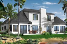 House Plan Design - Mediterranean Exterior - Rear Elevation Plan #23-2242