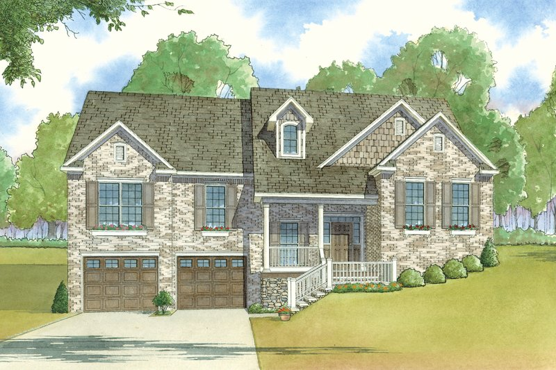Traditional Style House Plan - 3 Beds 2 Baths 2035 Sq/Ft Plan #923-26 Exterior - Front Elevation