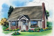 Cottage Style House Plan - 3 Beds 2.5 Baths 1599 Sq/Ft Plan #18-287 Exterior - Front Elevation