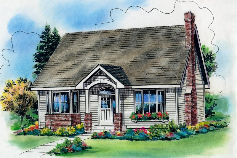 Cottage Exterior - Front Elevation Plan #18-287 - Houseplans.com