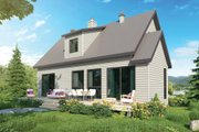 Contemporary Style House Plan - 3 Beds 3 Baths 1587 Sq/Ft Plan #23-2312 Exterior - Rear Elevation