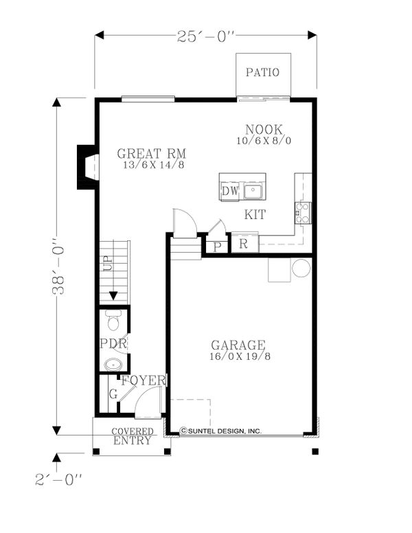 Architectural House Design - Country Floor Plan - Main Floor Plan #53-621