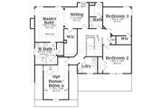 Craftsman Style House Plan - 3 Beds 2.5 Baths 2465 Sq/Ft Plan #419-168 Floor Plan - Upper Floor